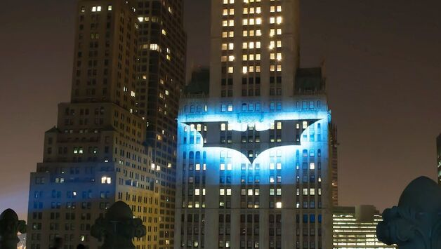 Dark Knit Batsignal Projection