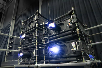 K2imaging stacked projectors in action